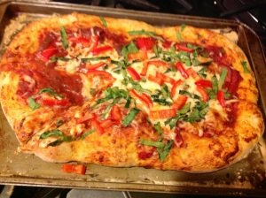After 20 minutes in the oven, this pizza was delicious!!