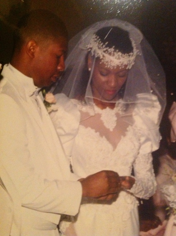 We were babies exchanging wedding bands.