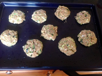 Pre-cooked zucchini cakes