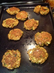 Cooked zucchini cakes. OMG!! I found this recipe on Pinterest. If you like zucchini, check me out on Pinterest for the pin. DELICIOUS!!!