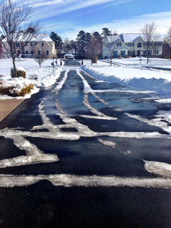 A clean driveway!
