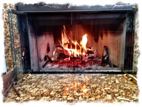 Aaaah, love the crackling sounds of wood burning!