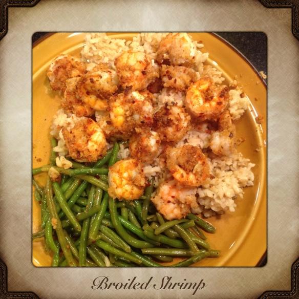 broiled shrimp dinner