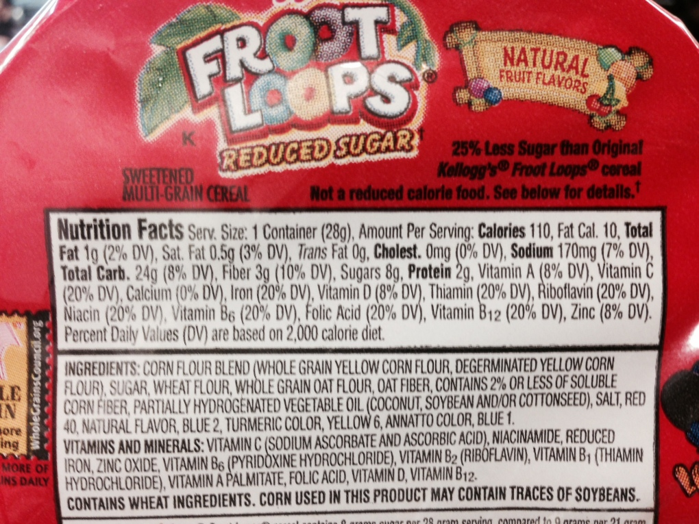 froot loop label