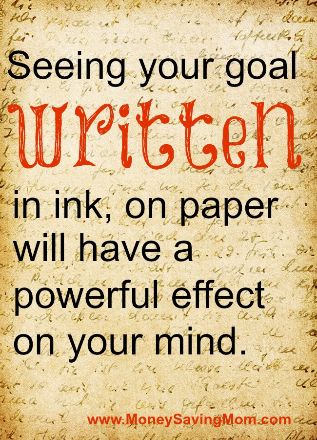 written-goals
