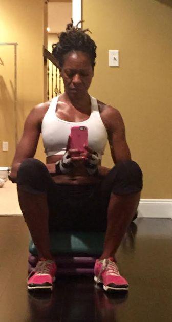 Selfie after a basement workout