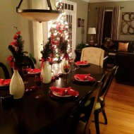 The dining room set for the family matriarcs