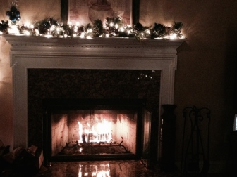 Decorated fireplace. My favorite hangout place at home.