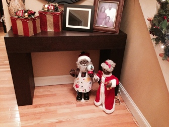 Mr. & Mrs. Santa ready to greet family and friends. :)