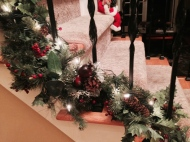 Close up shot of the stair decorations. I love Pinterest!