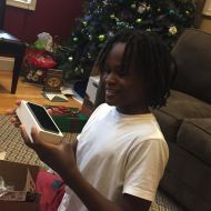 Santa hooked him up with an iPhone 5