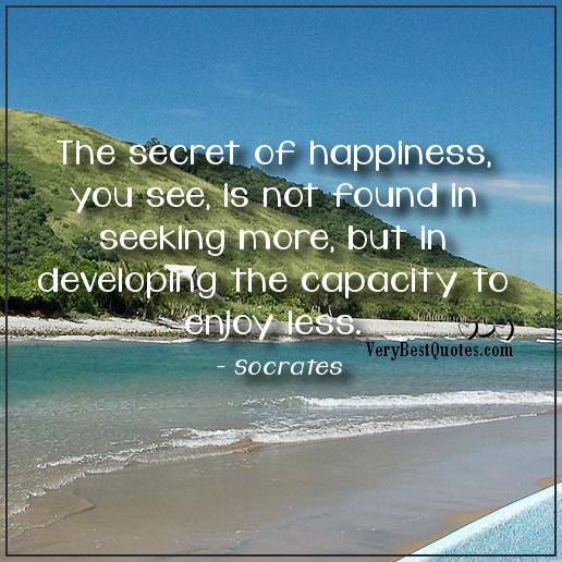 secret of happines