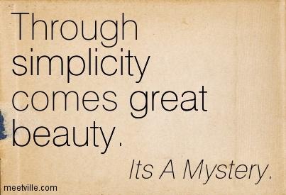 through simplicity