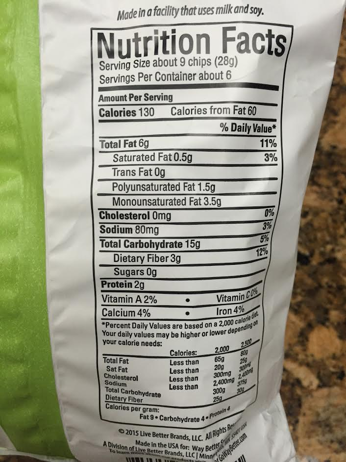 sprouts nutritional label