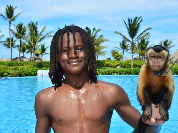 Tailor holding monkey2
